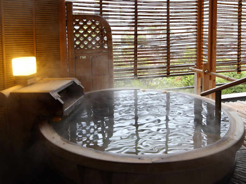Japanese style room with open air Ginsen bath