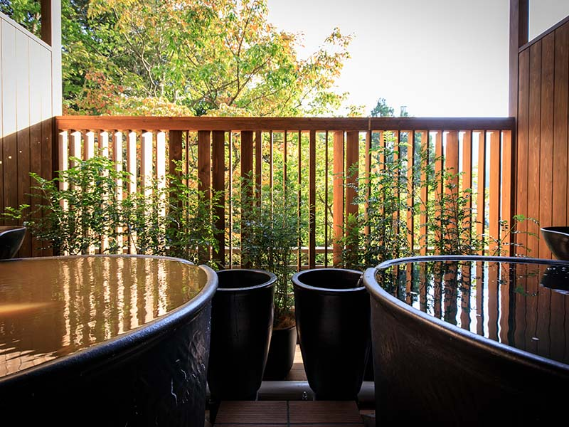 Japanese & Western style VIP room with two open air baths (KINSEN and GINSEN)