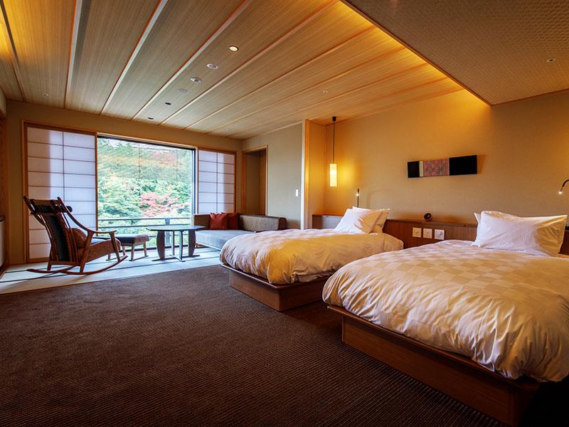 Chambre japonaise moderne deluxe